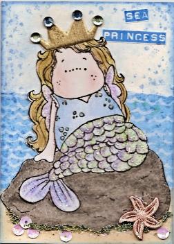 Magnolia ATC 'Sea Princess' by Maria Adams